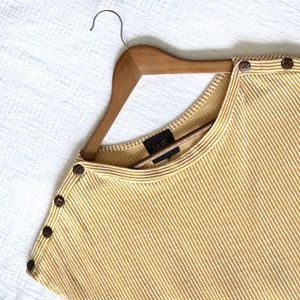 W5 Yellow and White Striped Top!